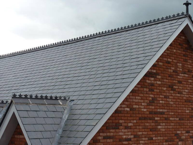 Decorative slate roof tiles